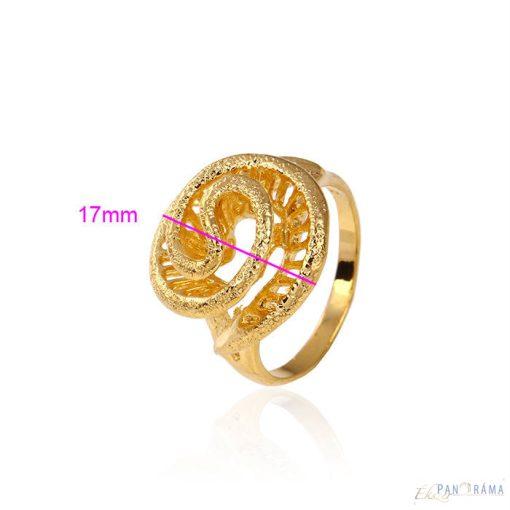 Gyűrű Gold Filled  spirálos mintázatú