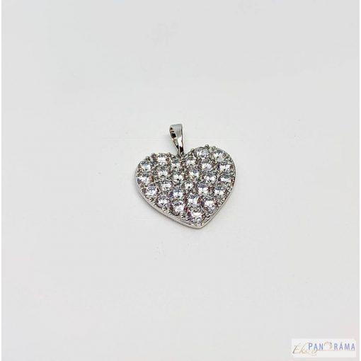 Gold Filled White szív medál - Sofia