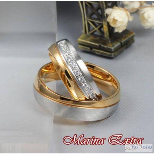 Nemesacél női karika gyűrű - Marina extra