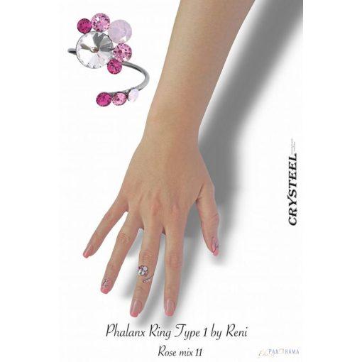 Swarovski kristályos  gyűrű -  Crysteel  Reni