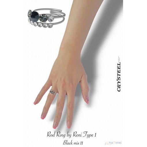 Swarovski kristályos  gyűrű -  Crysteel Rod ring by Reni