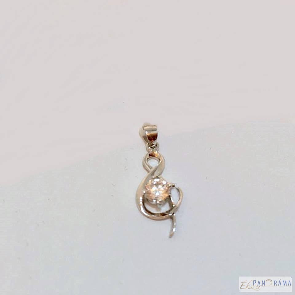 Ródiumozott medál - Violin Crystal