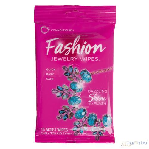 Ékszertisztító kendő, nedves - Fashion Wipes 15db