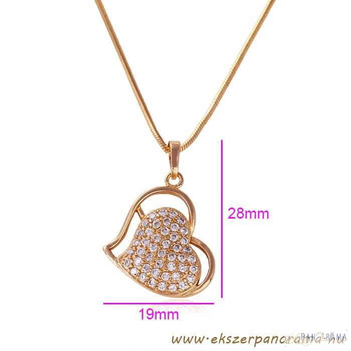 18 K Gold Filled szív medál - Adina