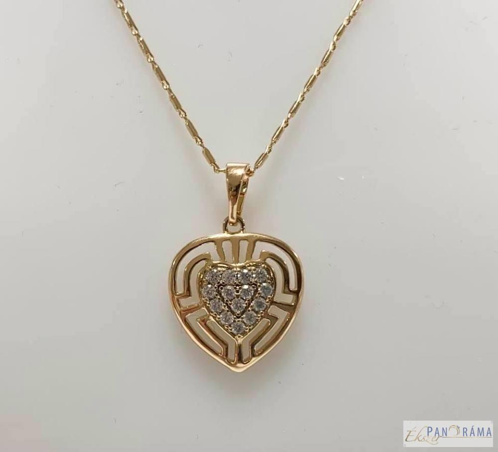 18 K Gold Filled szív medál-Eszter