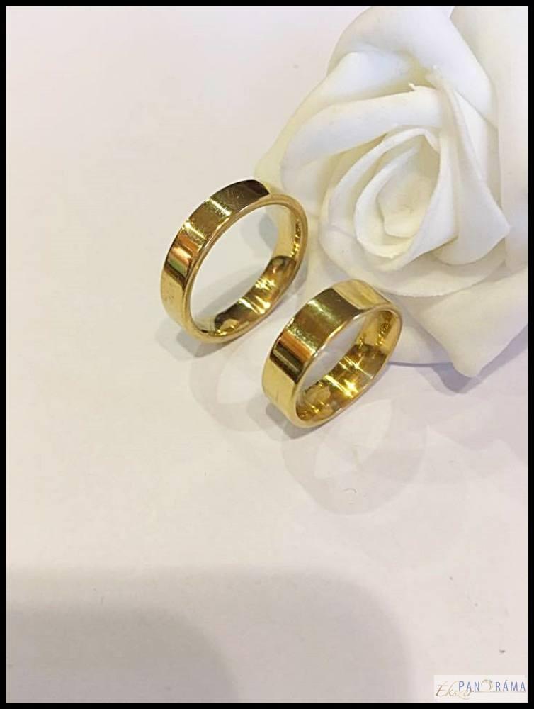 Nemesacél karika gyűrű Classic
