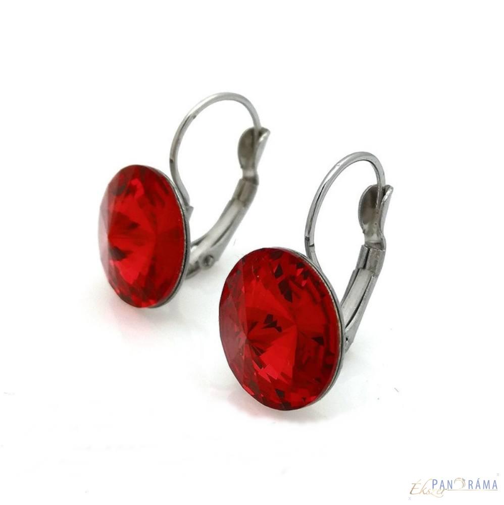 Swanis® kristályos francia kapcsos fülbevaló - piros 12